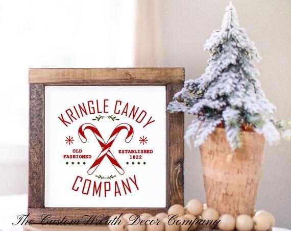 Kris Kringle Sign, Mini Christmas Sign, Christmas Shelf Sitter, Christmas Desk Sitter