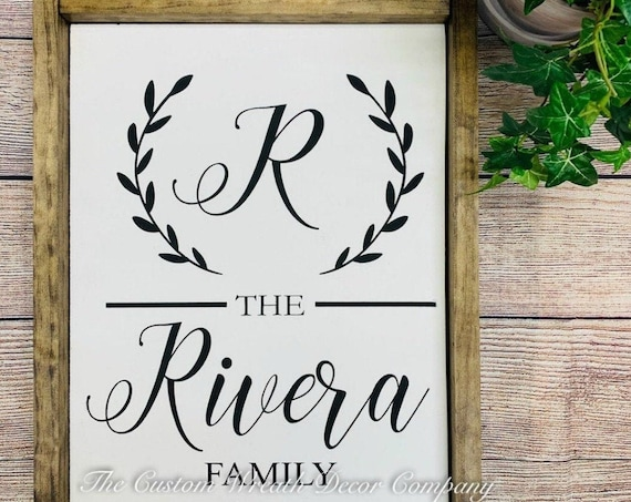 Family Name Sign, Rustic Family Name Sign, Fixer Upper Name Sign, Last Name Sign, Farmhouse Name Sign
