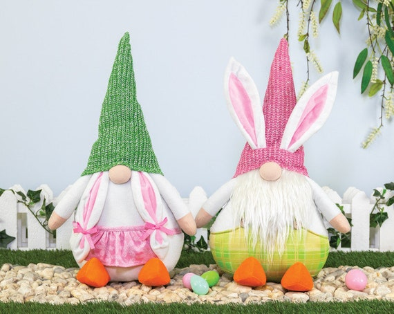 Easter Gnome, Gnome Bunny, Gnome Easter Decor, Easter Wreath Decor