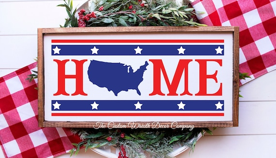 Patriotic Sign, Rustic Patriotic Decor, Uncle Sam Sign
