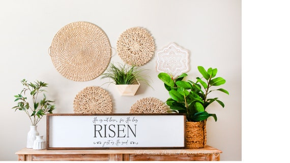He is Risen Sign, Resurrection Sign, Rustic Easter Sign