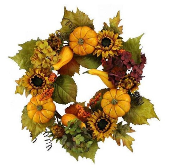 Fall Door Wreath, Pumpkin Berry Wreath, Autumn Wreath, Fall Front Door Wreath