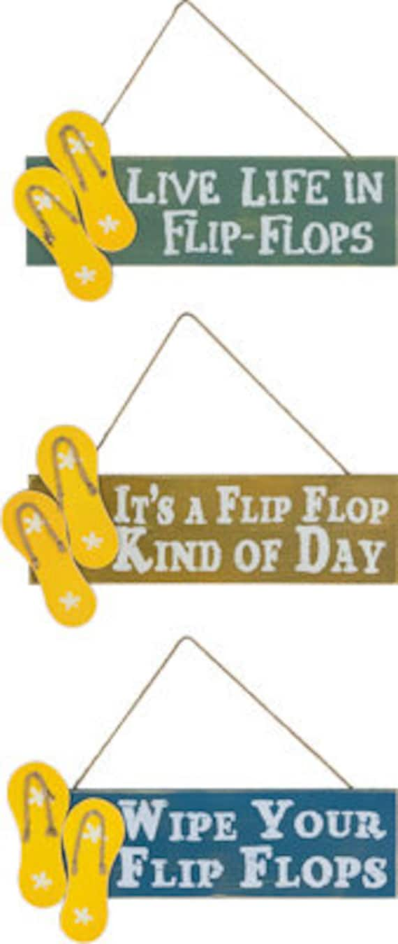 "14"" Flip Flop Sign, Beach Sign, Life Is Better In Flip Flops Sign, Beach Decor, Beach Wreath Supplies,  Deco Mesh Supplies"