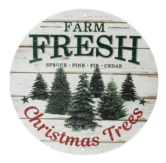 12 inch Farm Fresh Christmas Trees Sign MD0358