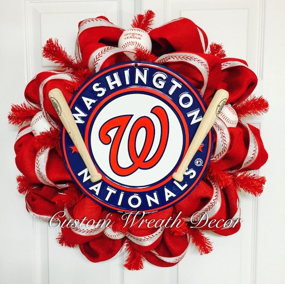Washington Nationals Wreath, Nationals MLB Wreath, Baseball Wreath