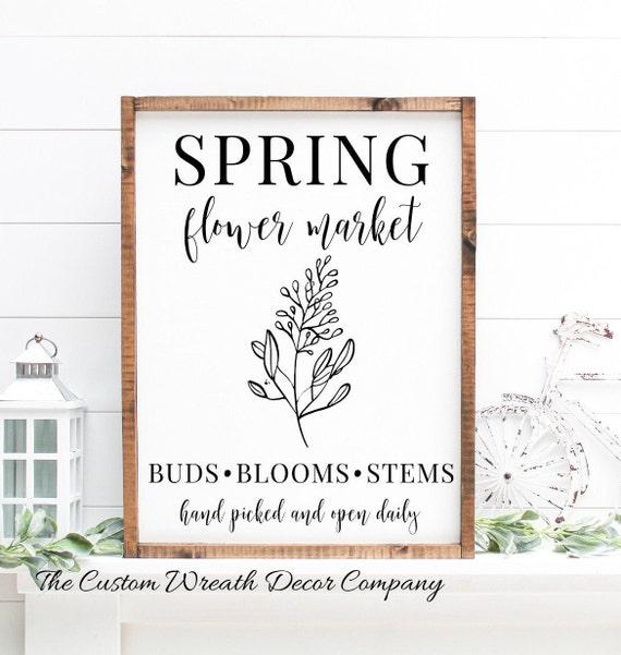 Spring Flower Sign, Rustic Spring Sign