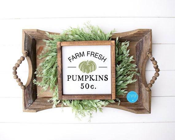 Fall Shelf Sitter, Fresh Pumpkin Sign, Pumpkin Shelf Sitter, Fall Sign