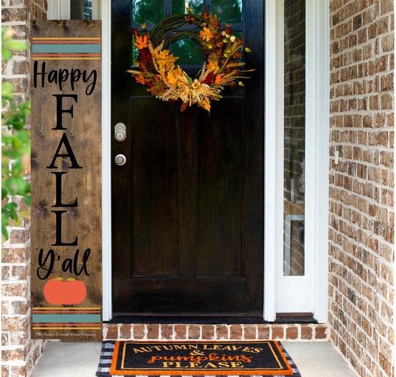 Fall Porch Sign, Happy Fall Y'all Porch Sign, Fall Porch Decor