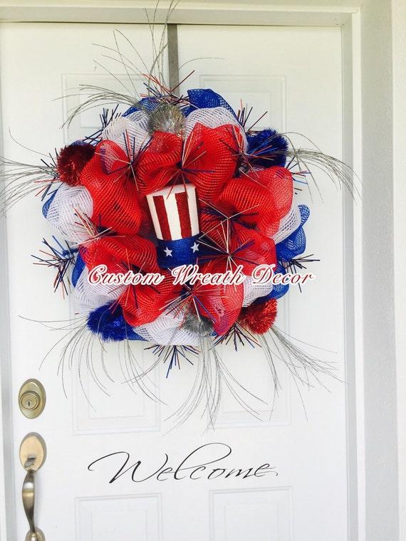 Patriotic Wreath, Memorial Day Wreath, Labor Day Wreath, Independence Day Wreath, July 4th Wreath