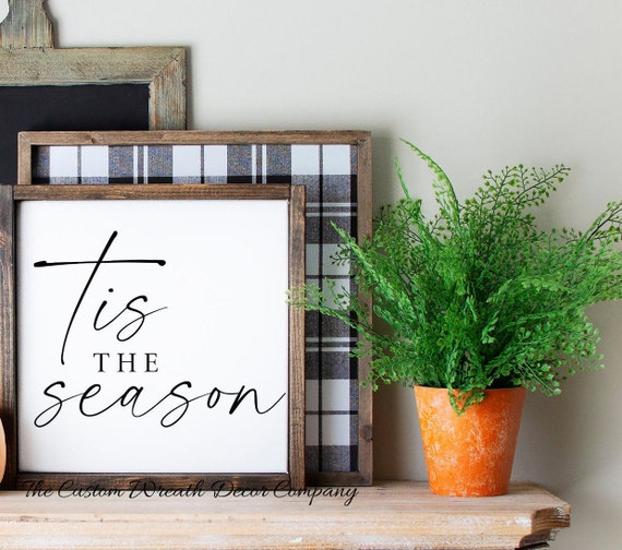 Tis The Season Sign, Rustic Tis The Season Sign, Rustic Christmas Sign