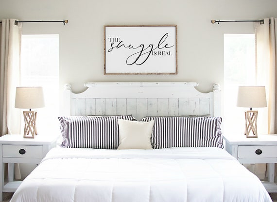 The Snuggle Is Real Sign, Snuggle Is Real Bedroom Sign, Bedroom Sign, Rustic Bedroom Sign