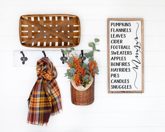 Fall Sign, Pumpkins Flannels Leaves Football Hayrides Sweaters Sign