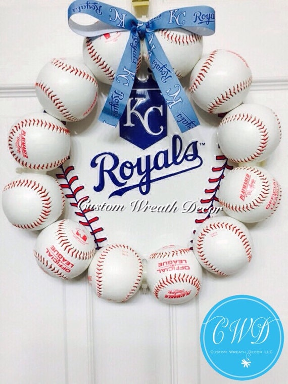 "13"" Kansas City Royals Baseball Wreath"