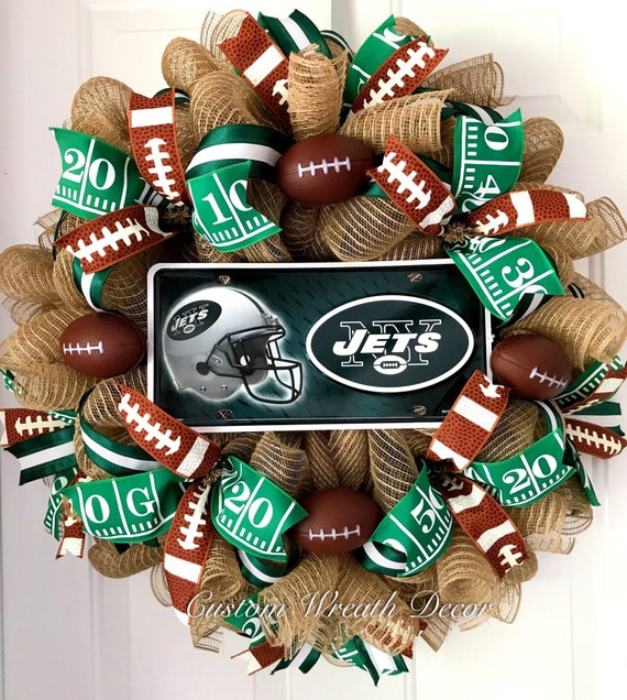 New York Jets Wreath, Jets Wreath, Jets Football Wreath