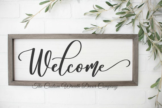 Welcome Sign, Rustic Welcome Sign, Farmhouse Welcome Sign