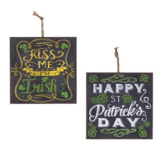 "5"" St. Patricks Day Sign, Black St. Patricks Day Sign, Black Chalkboard Sign, Irish St. Patricks Day Sign, Happy Saint Patricks Day Sign"