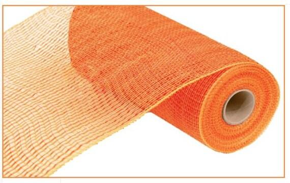 10 inch Orange Wide Foil Mesh RE134120, Orange Metallic Foil Mesh, Halloween Deco Mesh RE134120
