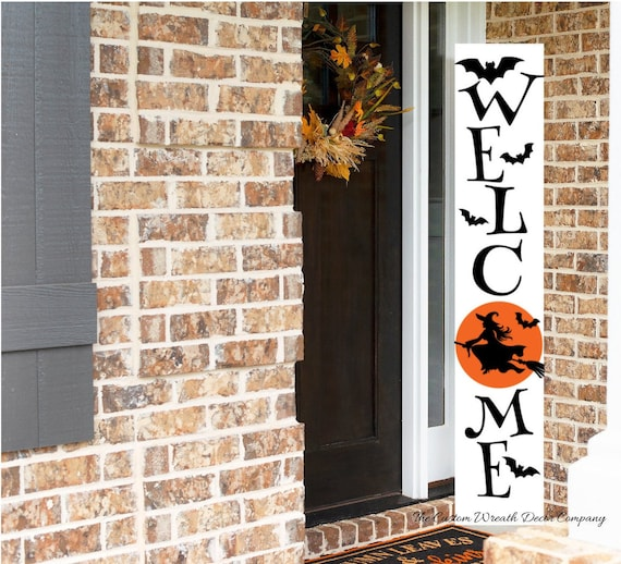 Welcome Halloween Porch Sign, Witch Halloween Porch Sign, Halloween Porch Sign, Halloween Porch Leaner