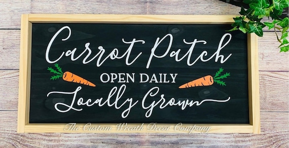 Easter Wood Sign, Rustic Easter Sign, Easter Carrot Sign, Carrot Patch Sign, Farmhouse Easter Sign
