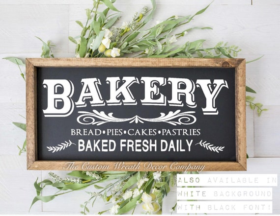 Bakery Rustic Sign, Bakery Baked Fresh Daily Sign, Fixer Upper Sign, Bakery Country Sign, Bakery Wood Sign, Bakery Home Decor