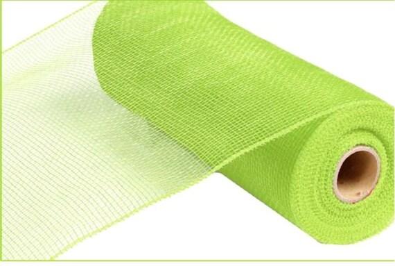 "10"" Apple Green Deco Mesh, Apple Green Mesh, Apple Green Solid Deco Mesh, Lime Green Deco Mesh RE800256"