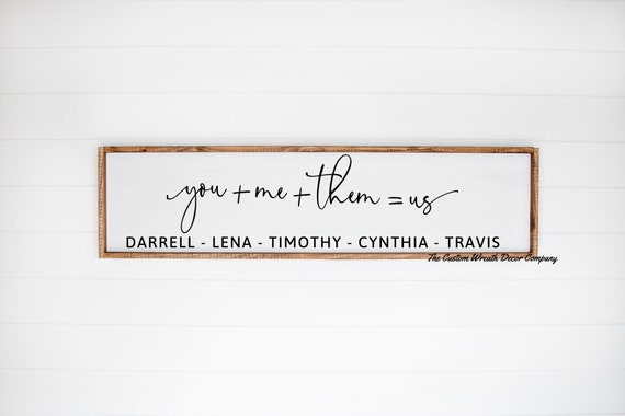 You + Me + Them + Us Sign, You Me Us Them Sign, Family Sign, Bedroom Sign, Valentine Sign