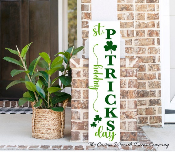 St. Patrick's Day Porch Sign, Happy St. Patrick's Day Porch Sign, Saint Patrick's Day Porch Sign