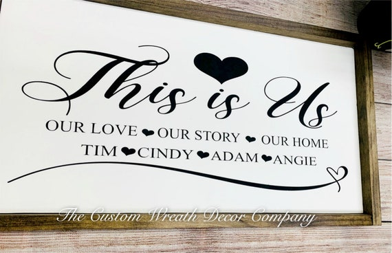 This Is Us Sign, This Is Us Family Sign, This Is Us Rustic Sign, This Is Us Wood Sign, This Is Us Fixer Upper Sign, Customized Family Sign