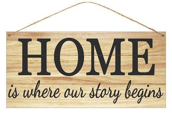 12x6 Home Tin Sign MD0403, Home Where Our Story Begins MD0403