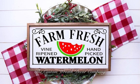 Rustic Watermelon Sign, Farm Fresh Watermelon Sign, Rustic Summer Sign, Fresh Watermelon Sign