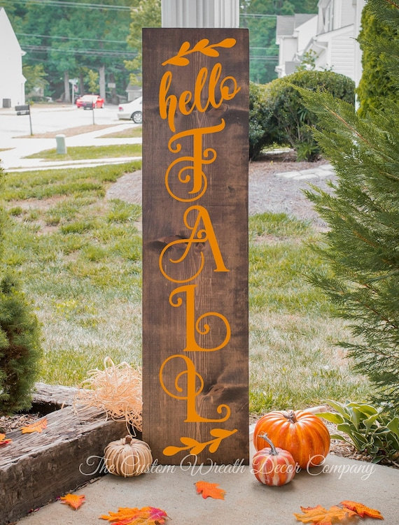 Hello Fall Porch Sign, Give Thanks Porch Sign, Fall Porch Sign