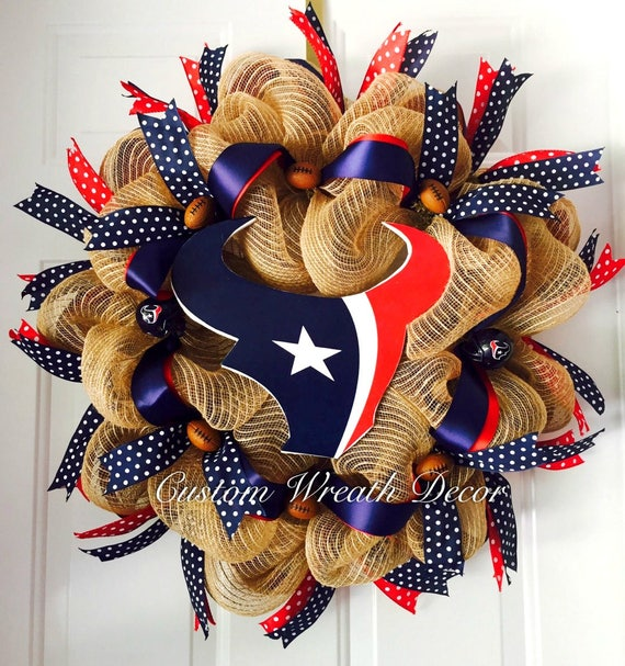 Houston Texans Wreath, Texans Wreath, Texas Football Wreath, Houstons Wreath