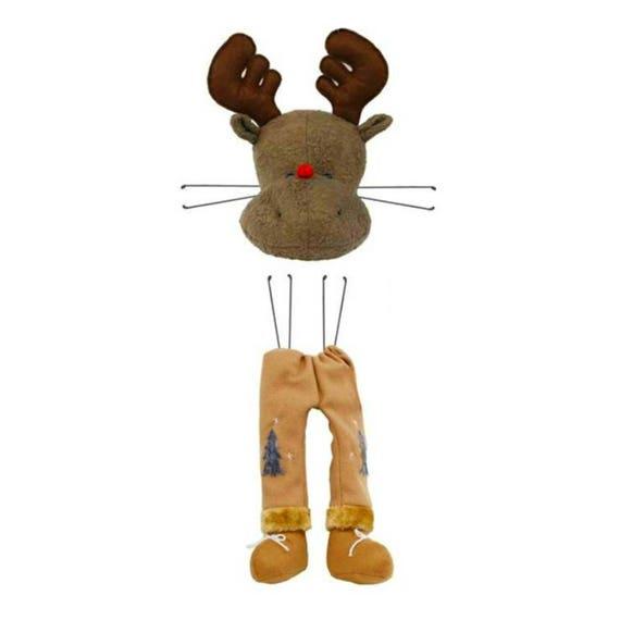 Reindeer Plush Wreath Kit MD0206 , 21 Inch Reindeer Decor Kit MD0205, Reindeer Wreath Kit MD0206, Reindeer Wreath Attachment