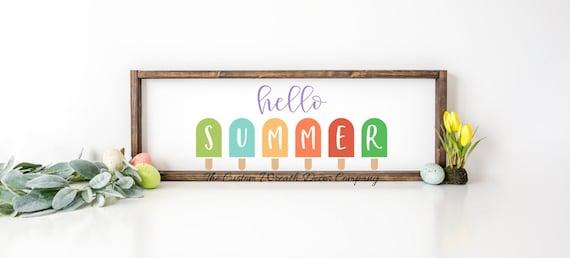 Hello Summer Sign, Rustic Summer Sign, Summer Sign