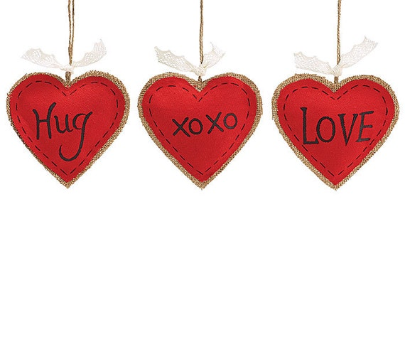 "5"" Valentine Burlap Heart, Burlap Heart Decor, Valentine Heart, Valentines Day, Wreath Supplies, Valentine Wreath Decor - 9721519"