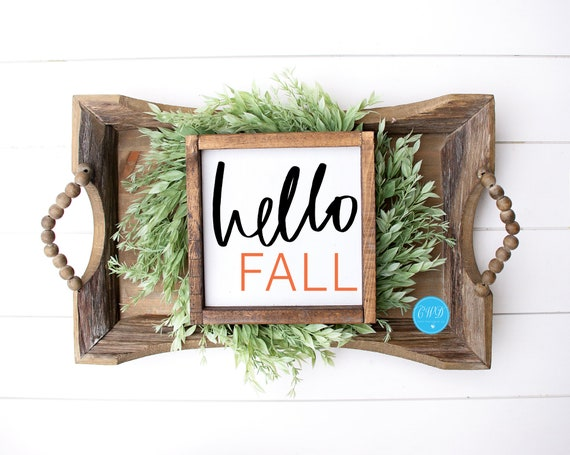 Fall Shelf Sitter, Hello Fall Sign, Fall Sign