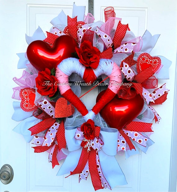 Valentines Wreath, Valentine Heart Wreath, Valentine Decor, Love Wreath