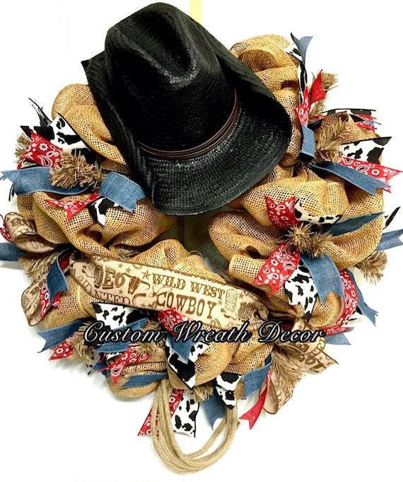 Cowboy Wreath, Country Wreath, Rodeo Wreath, Wild West Wreath, Western Wreath, Country Western Wreath