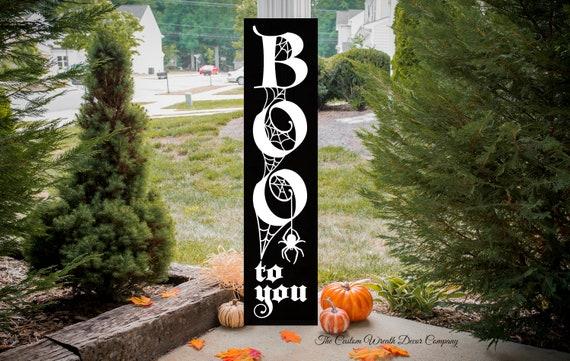 Boo Porch Sign, Halloween Porch Sign, Boo Halloween Porch Sign