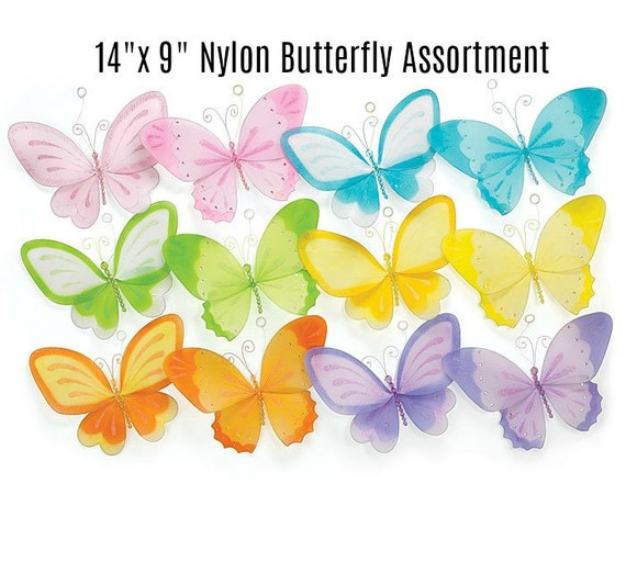 "14"" Butterfly Wreath Decor, Spring Butterfly Decor, Summer Butterfly Decor, Butterfly Wreath Decor"