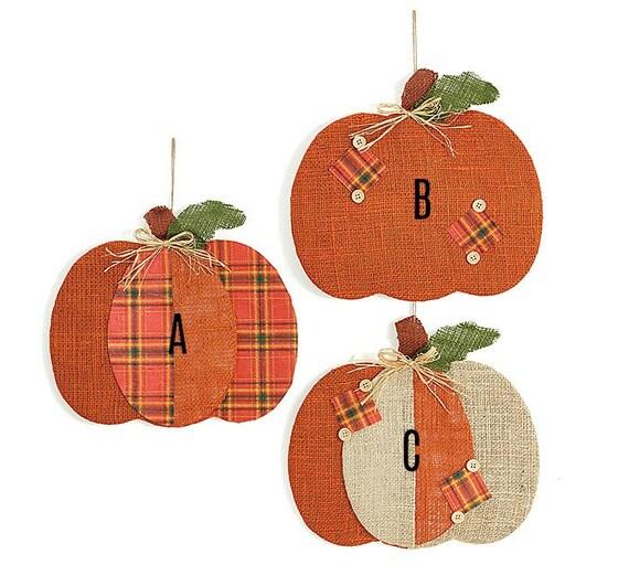 Fall Burlap Pumpkin Decor, Halloween Pumpkin Decor, Halloween Burlap Pumpkin Decor, Fall Pumpkin Wreath Decor