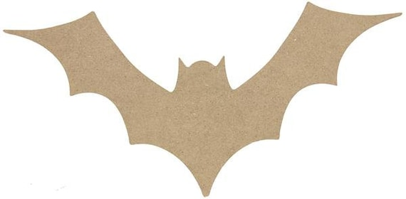 "12"" Wooden Bat, Unfinished, Wooden Halloween Bat, Unpainted Bat Sign, Halloween Sign - HH7284"