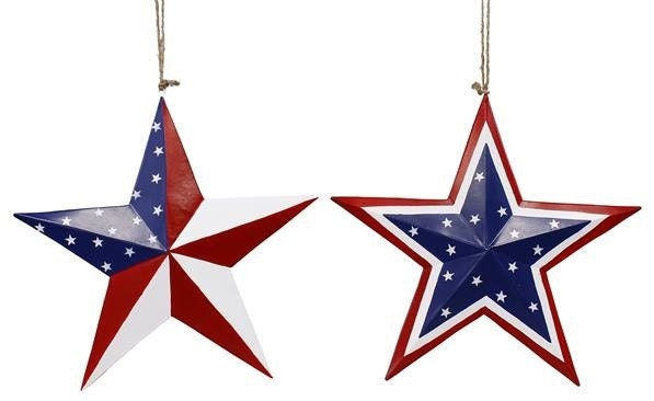12 Star Wall Decor, Patriotic Star, Red White Blue Star, Flag Star ...