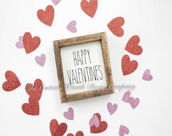 Valentines Sign, Rae Dunn Inspired Valentine Sign, Valentine Farmhouse Sign, Shelf Sitter Valentine Sign