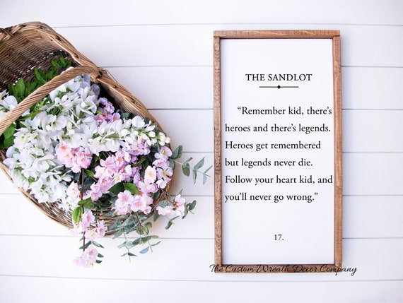 Sandlot Quote, Sandlot Sign, Rustic Children's Wall Decor, Children's Bedroom Sign, Book Page Sign