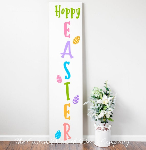 Hoppy Easter Porch Sign, Easter Porch Sign