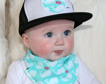 Aqua   White Whales Flat Brim Trucker Cap - Australian Clothing for Baby  Boys and Girls - Sydney 95a0e20b887