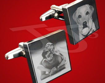 Photo Engraved Square Cufflinks