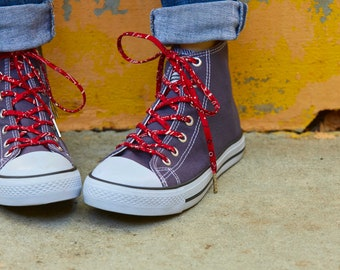38cd88a13412 Shoelaces - Red Bandana - Shoe Laces - Shoestrings - High and Low Top Converse  Shoe Laces
