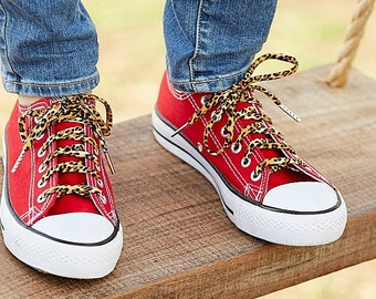 1dc92314c381 Shoelaces with Leopard Prints . Cheetah Pattern Shoestrings. Perfect for  Converse and Vans.